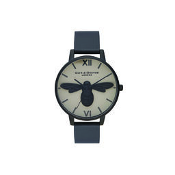 Shoreditch Bee, Greige Dial & Matte Black