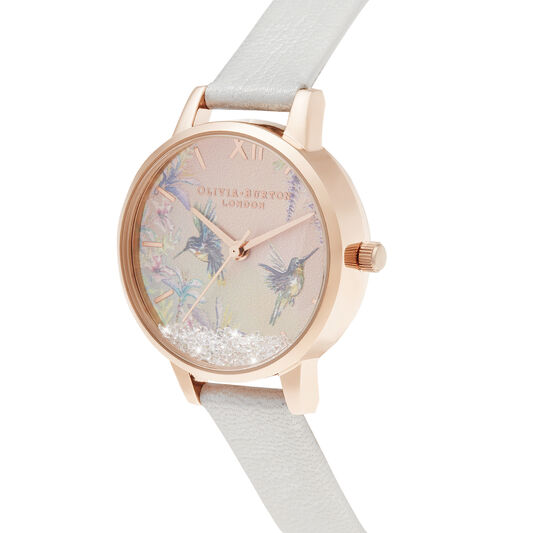 Wishing Wings Midi Shimmer Pearl & Rose Gold Watch