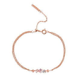 Rainbow Bee Rose Gold Bracelet