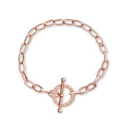 Bejewelled T-Bar Bracelet Rose Gold
