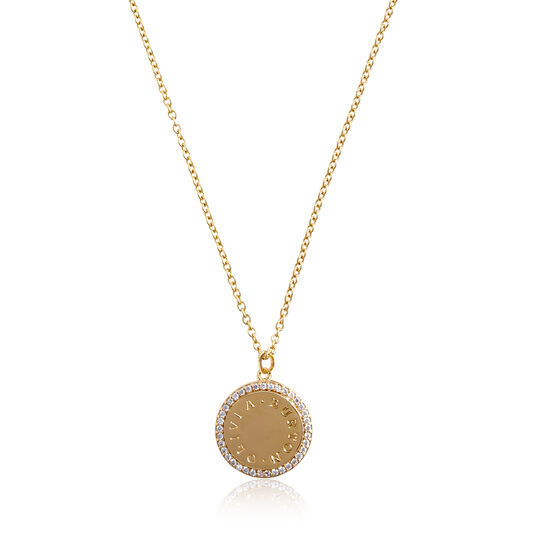 Bejewelled Classics Disc Gold Necklace