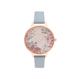 British Blooms Blue & Rose Gold Watch