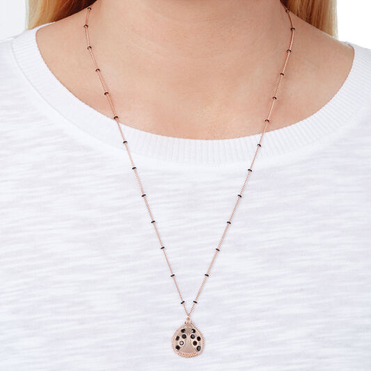 Ladybird Necklace Rose Gold