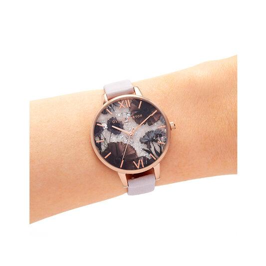 Celestial Rose Quartz, Pink & Rose Gold Watch
