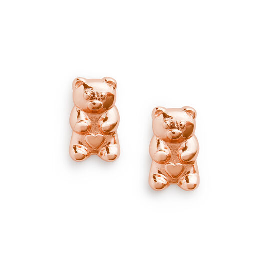 Gummy Bear Rose Gold Stud Earrings