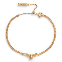 Lucky Bee Chain Bracelet Gold