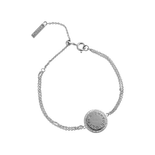 Bejewelled Classics Disc Silver Bracelet