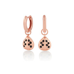 Ladybird Huggie Hoops Rose Gold