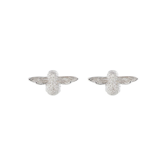3D Bee Silver Studs