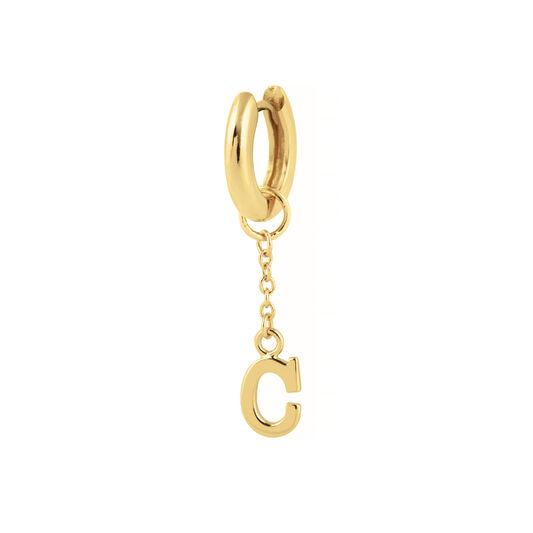 C Huggie Charm Gold