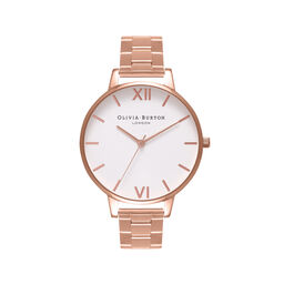 White Dial Bracelet Rose Gold Watch