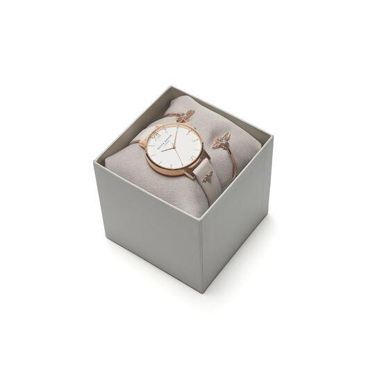 Gift Set 3D Bee Bangle & Blush Watch