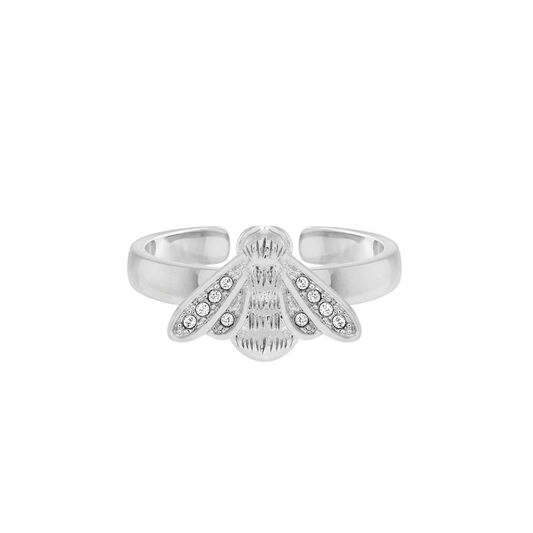 Glitter Bee Silver Ring