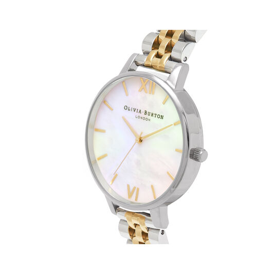 Mother of Pearl Gold & Silver Watch