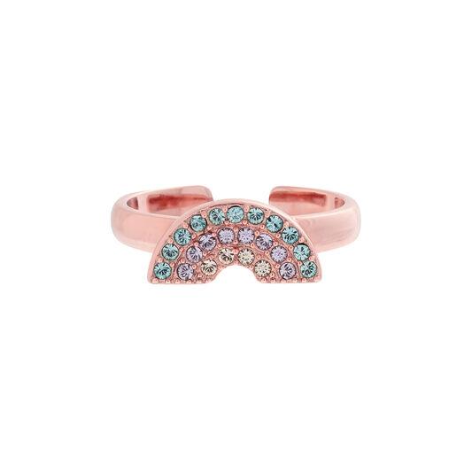 Rainbow Rose Gold Ring
