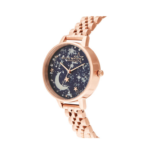 Celestial Navy & Rose Gold Watch