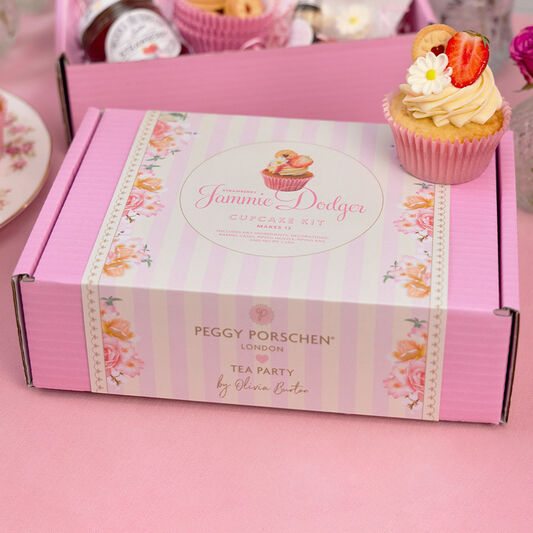 OBxPP Strawberry Jammie Dodger Cupcake Kit