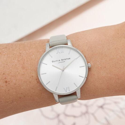 Big Dial Grey & Silver Watch