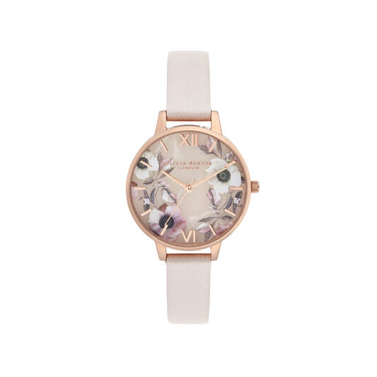 Semi Precious Pink & Rose Gold Watch
