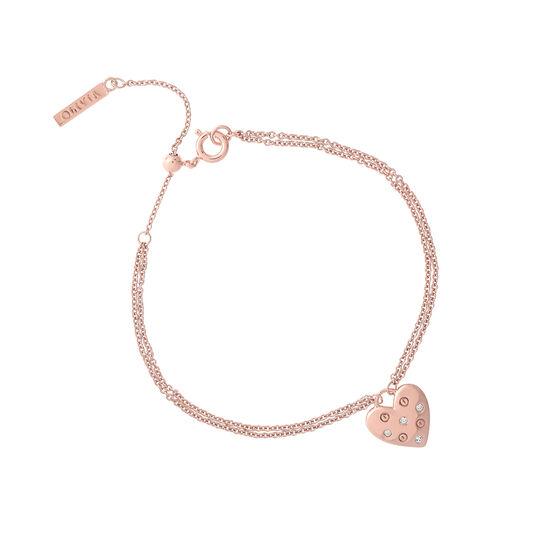 Classic Heart Rose Gold Bracelet