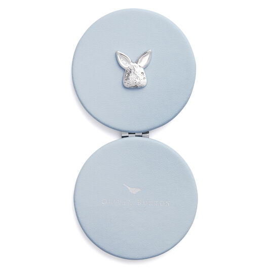 3D Bunny Compact Mirror Chalk Blue & Silver