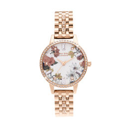 Midi Rose Gold Sparkle Bracelet Watch