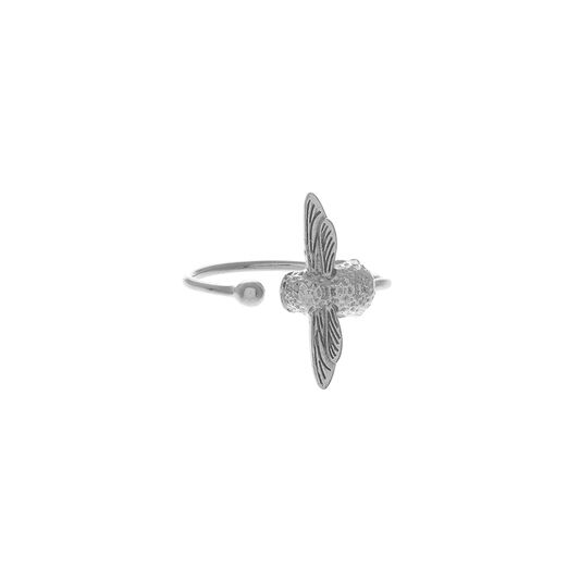 3D Bee Silver Ring