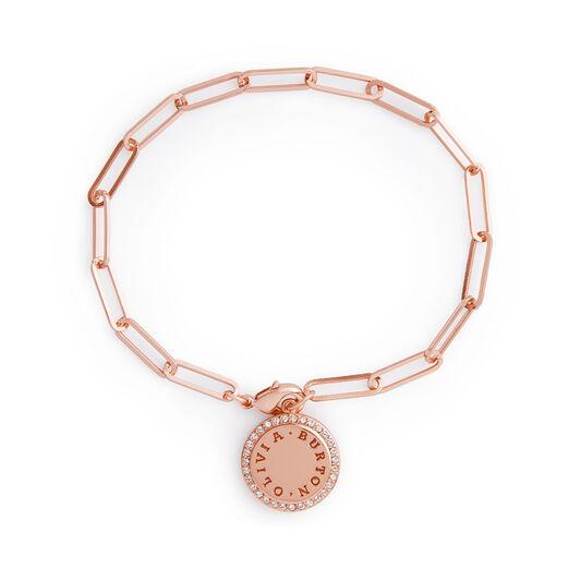 Bracelet chaîne Bejewelled Classics or rose