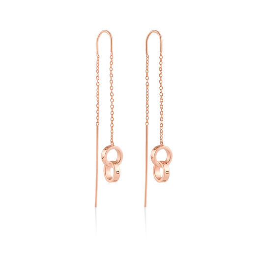 Interlink Threader Earings Rose Gold
