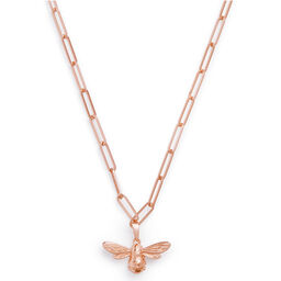 Lucky Bee Rose Gold Chunky Chain Necklace