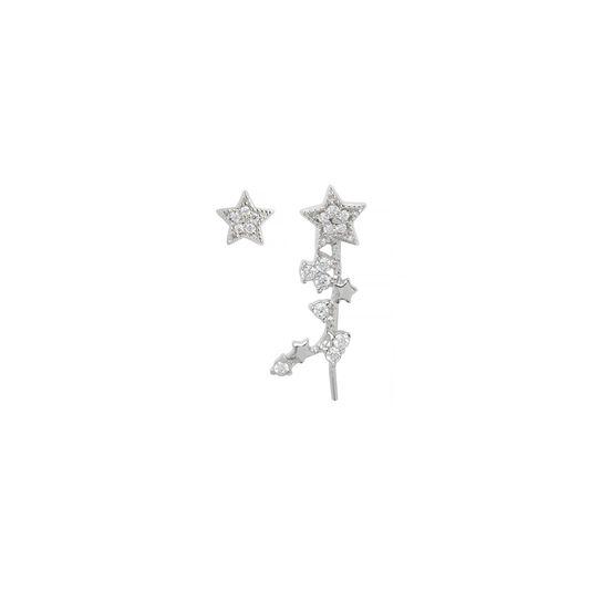 Celestial Crawler & Stud Silver Earring