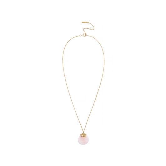 Semi Precious Necklace Gold & Rose Quartz