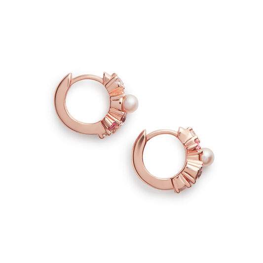 Under The Sea Huggie Hoops Rose Gold