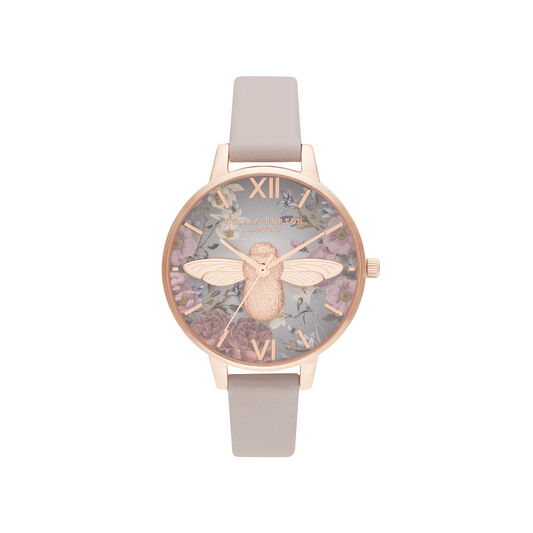 British Blooms 3D Bee, Vegan Rose & Rose Gold Watch