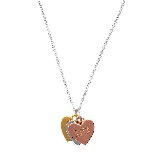 Collier Classic Heart 3 Tone