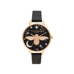 Celestial 3D Bee, Black & Gold Watch