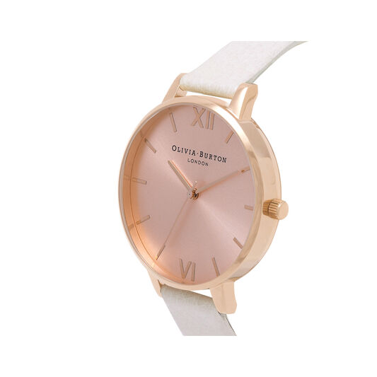 Sunray Rose Gold Big Dial Watch