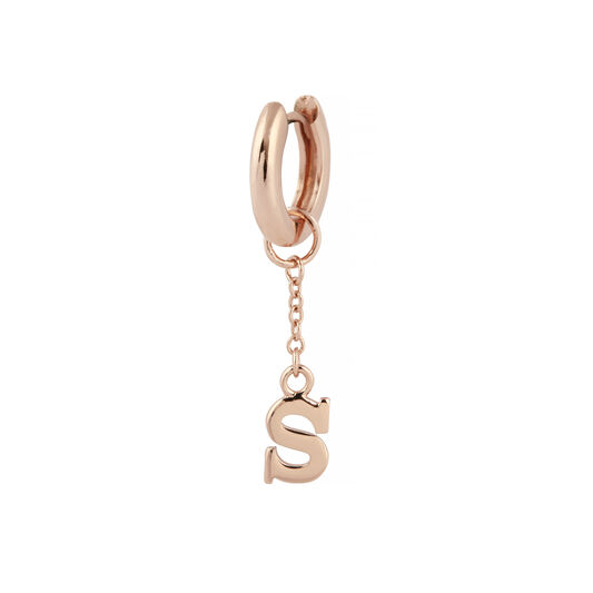 S Huggie Charm Rose Gold