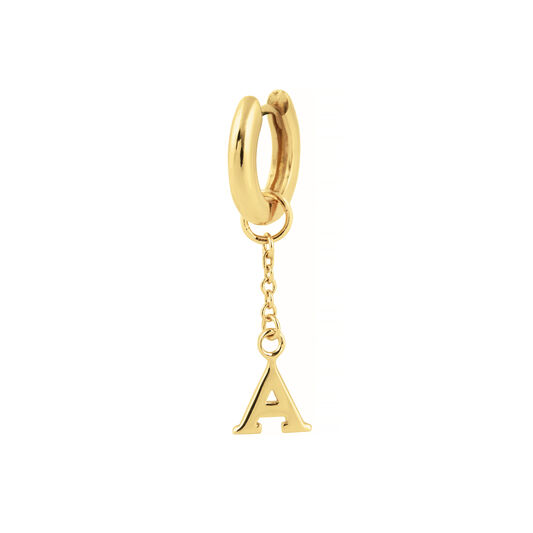 A Huggie Charm Gold