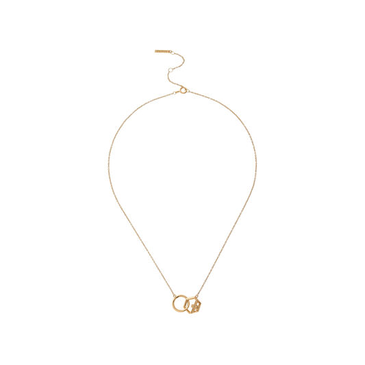 Honeycomb Bee Gold Necklace