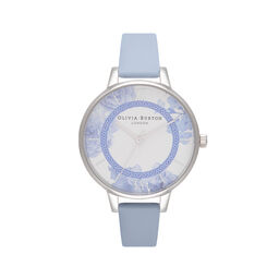 Tea Party Demi Dial Blue & Silver Watch