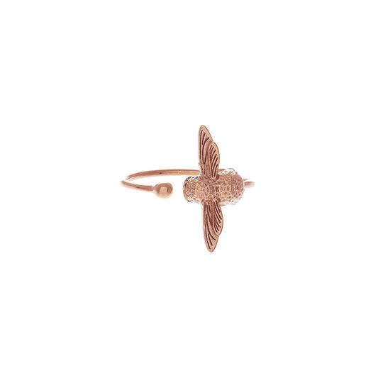 3D Bee Rose Gold Ring