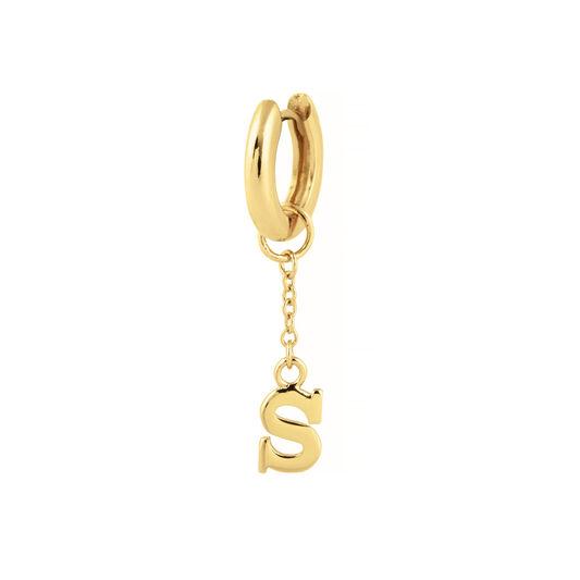 S Huggie Charm Gold