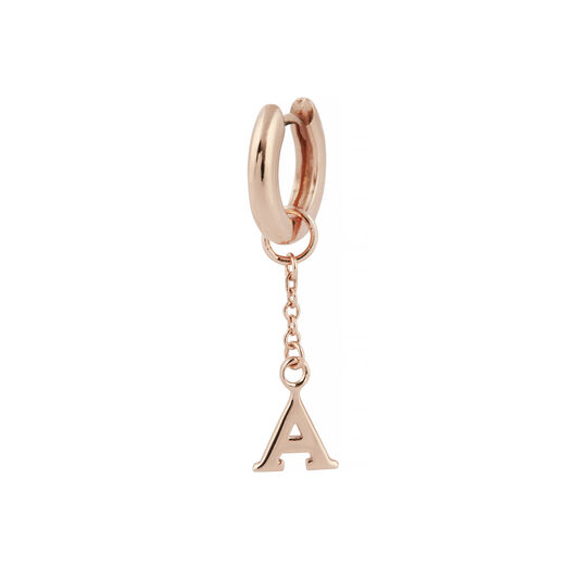A Huggie Charm Rose Gold