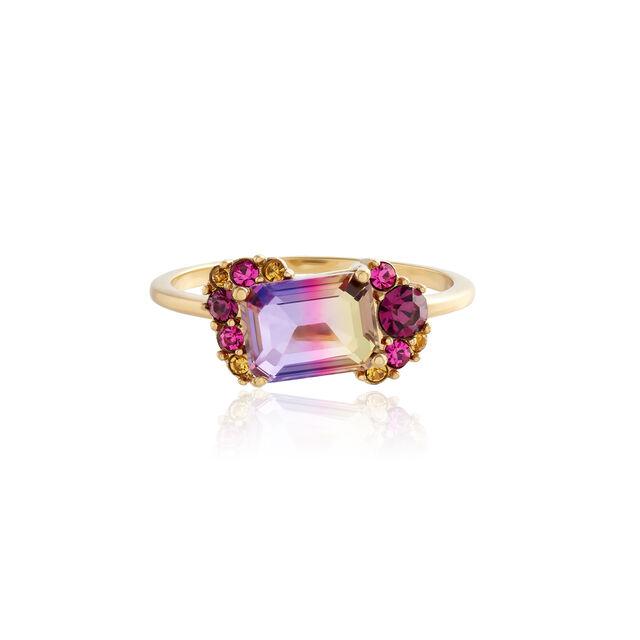 Jewel Rainbow Tourmaline Gold Ring (M)
