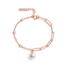 Pearl & Rose Gold Bracelet