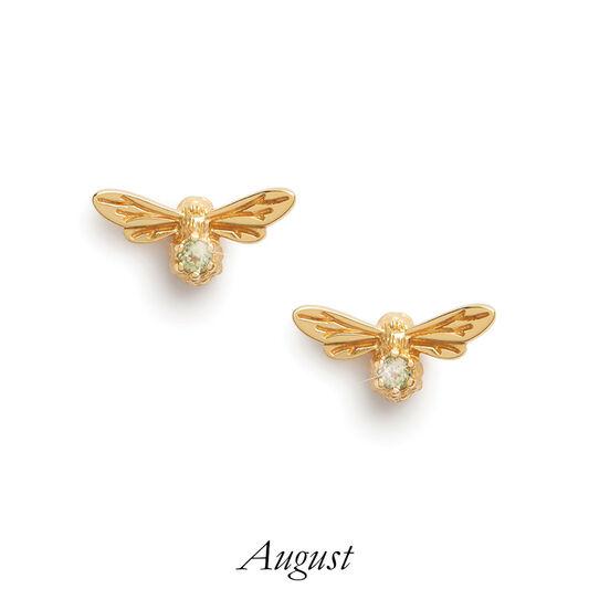 Celebration Stones Celebration Bee Studs Gold & Peridot (August)
