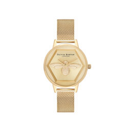 Charity Bee Watch Gold Mesh