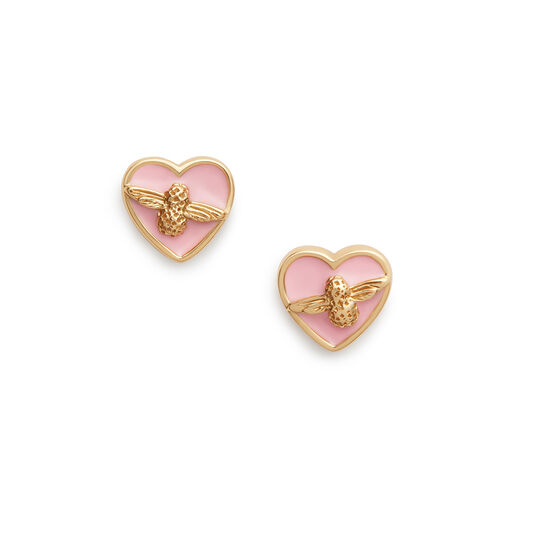 Love Bug Pink & Gold Studs