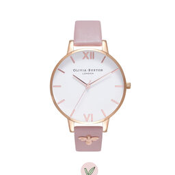 3D Bee Embellished Strap Soft Rose & Rose Gold Watch